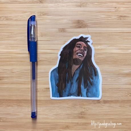 Yea Oh Greetings Bob Marley Sticker