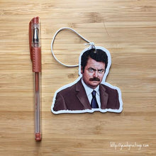 Load image into Gallery viewer, Yea Oh Greetings Ron Swanson Air Freshener
