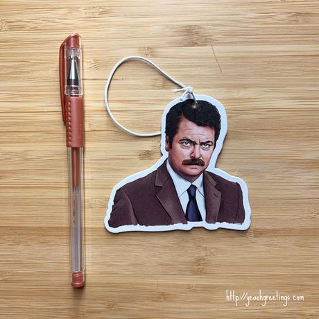 Yea Oh Greetings Ron Swanson Air Freshener