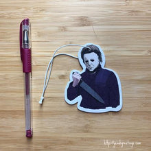 Load image into Gallery viewer, Yea Oh Greetings Michael Myers Air Freshener