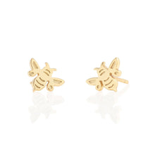 Load image into Gallery viewer, Kris Nations Bumble Bee Stud Earrings in 18K Gold Vermeil
