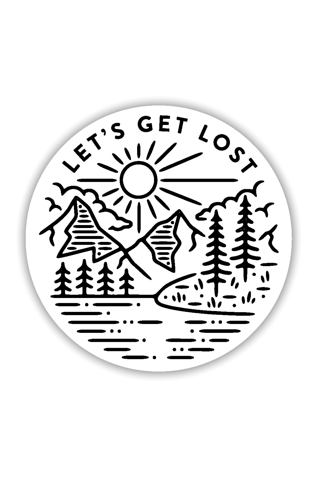 Stickers Northwest Let's Get Lost Large Printed Sticker