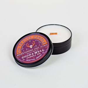 Good and Well Supply Co. 4 oz. Moss Tin Travel Candle