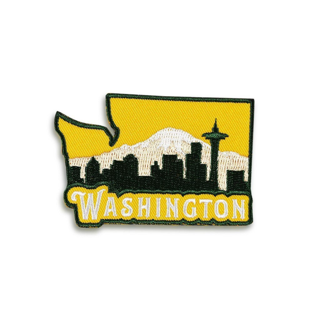 Northwest Vibes Washington Patch Yellow
