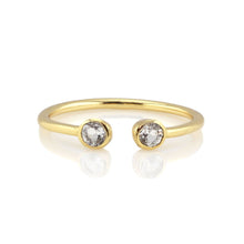 Load image into Gallery viewer, Kris Nations Double Gemstone Ring - White Topaz & 18K Gold Vermeil
