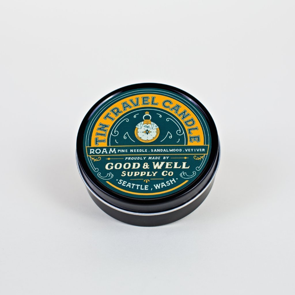 Good and Well Supply Co. 4 oz. Roam Tin Travel Candle