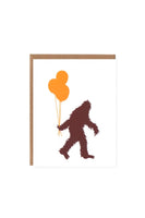 Orange Twist Sasquatch and Balloons