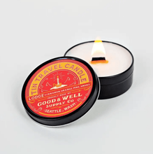 Load image into Gallery viewer, Good and Well Supply Co. 4 oz. Lodge Tin Travel Candle