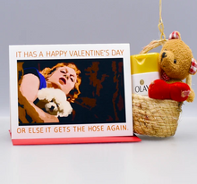 Load image into Gallery viewer, Seas and Peas Silence of the Lambs Valentine Card