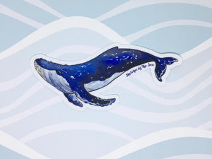 Sketches by the Sea Humpback Whale Sticker