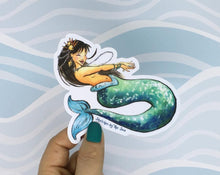 Load image into Gallery viewer, Sketches by the Sea Mermaid Sticker Jade