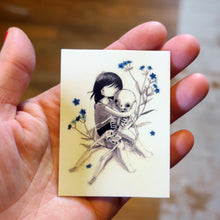 Load image into Gallery viewer, Stasia Burrington Forget Me Not Vinyl Sticker