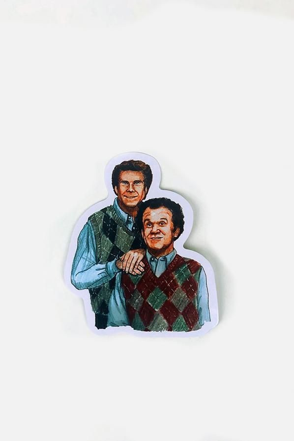 Yea Oh Greetings Step Brothers Sticker