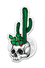 Load image into Gallery viewer, Stickie Bandits Cactus Skull Sticker
