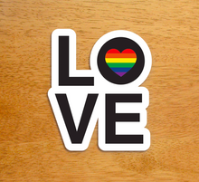 Load image into Gallery viewer, Stickie Bandits Love Rainbow Sticker