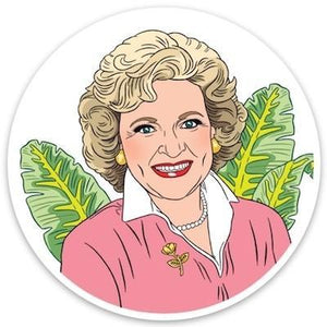 The Found Die Cut Vinyl Sticker Betty White