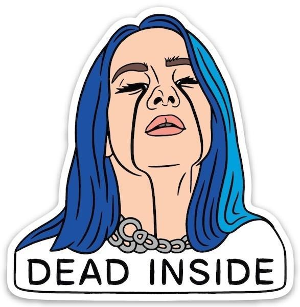 The Found Die Cut Vinyl Sticker Billie Dead Inside