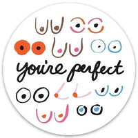 The Found Die Cut Vinyl Sticker Boobs You're Perfect