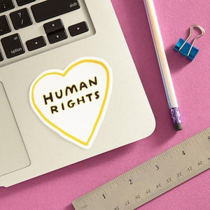 The Found Die Cut Vinyl Sticker Human Rights Heart