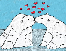 Load image into Gallery viewer, The Found Greeting Card Polar Bears You Melt My Heart Valentine's Day