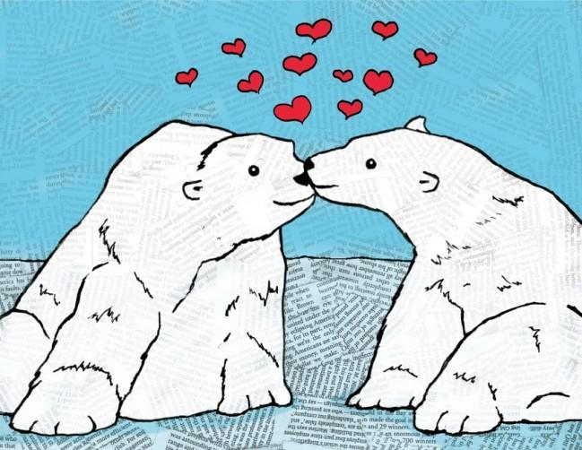 The Found Greeting Card Polar Bears You Melt My Heart Valentine's Day