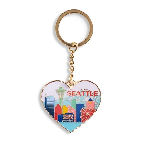 The Found Keychain Seattle Skyline Heart