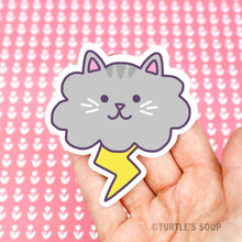 Load image into Gallery viewer, Turtle's Soup Cloud Cat Vinyl Sticker