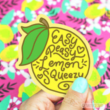 Load image into Gallery viewer, Turtle's Soup Easy Peasy Lemon Squeezy Vinyl Sticker