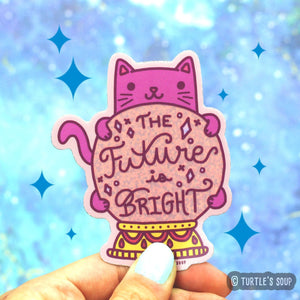 Turtle's Soup Fortune Teller Cat Sticker
