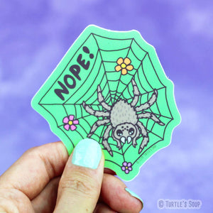 Turtle's Soup Nope Spider Sticker