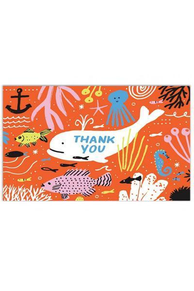 The Found Greeting Card Under The Sea Thank You