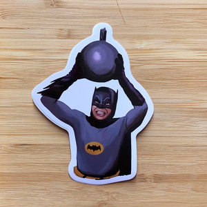 Yea Oh Greetings Batman Sticker