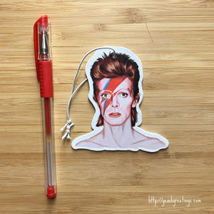 Yea Oh Greetings Bowie Air Freshener