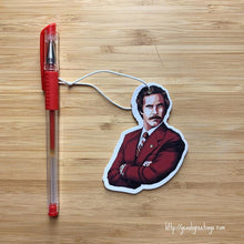 Load image into Gallery viewer, Yea Oh Greetings Ron Burgundy Air Freshener