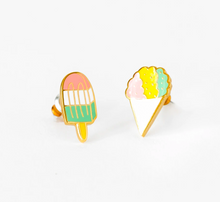 Load image into Gallery viewer, Yellow Owl Workshop Stud Earrings Sno Cone and Popsicle