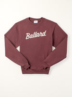 Standard Goods Embroidered Ballard Sweatshirt Burgundy