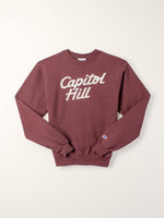Standard Goods Embroidered Capitol Hill Sweatshirt Burgundy