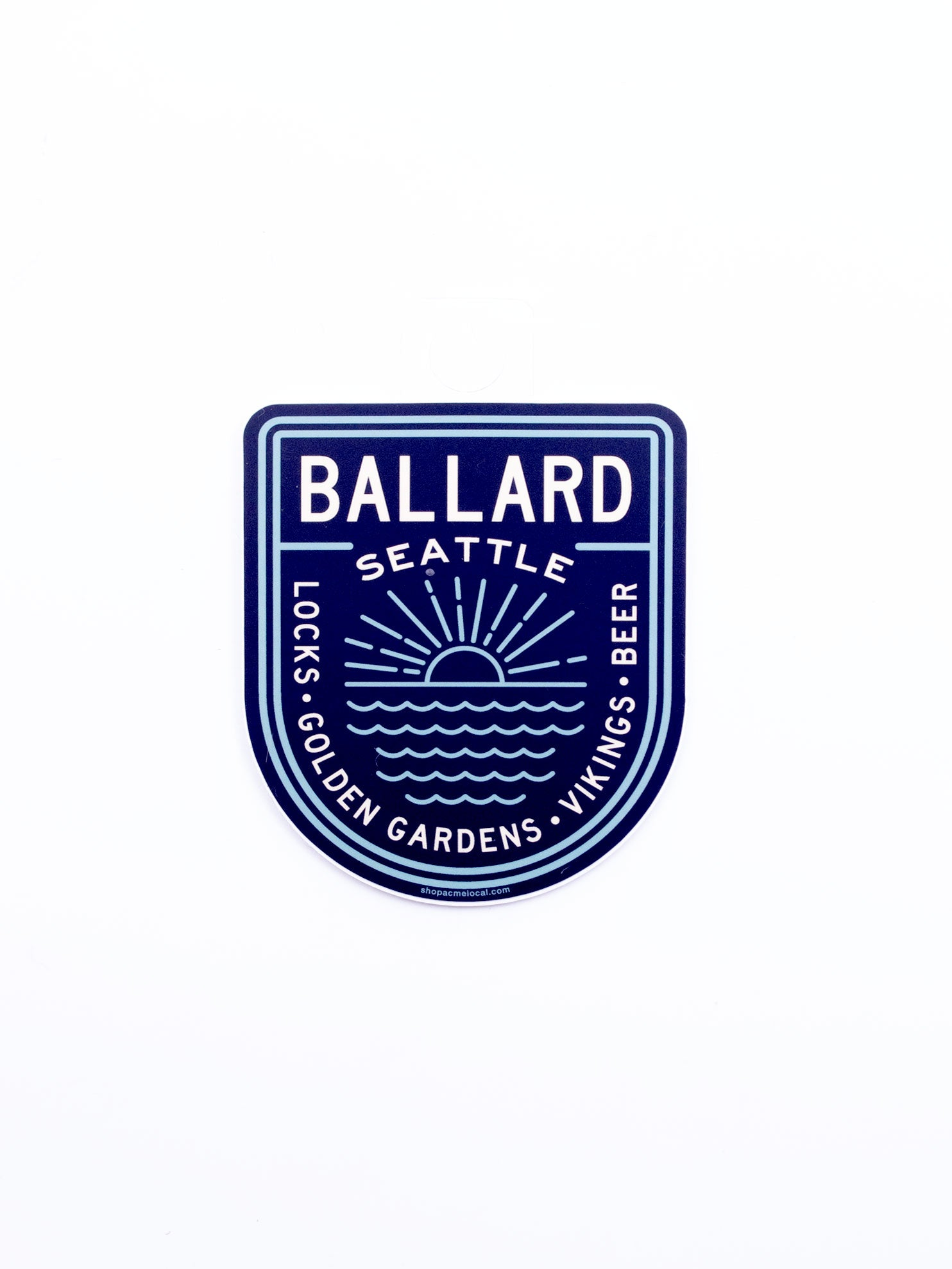 Acme Local Ballard Navy/Teal Badge Sticker