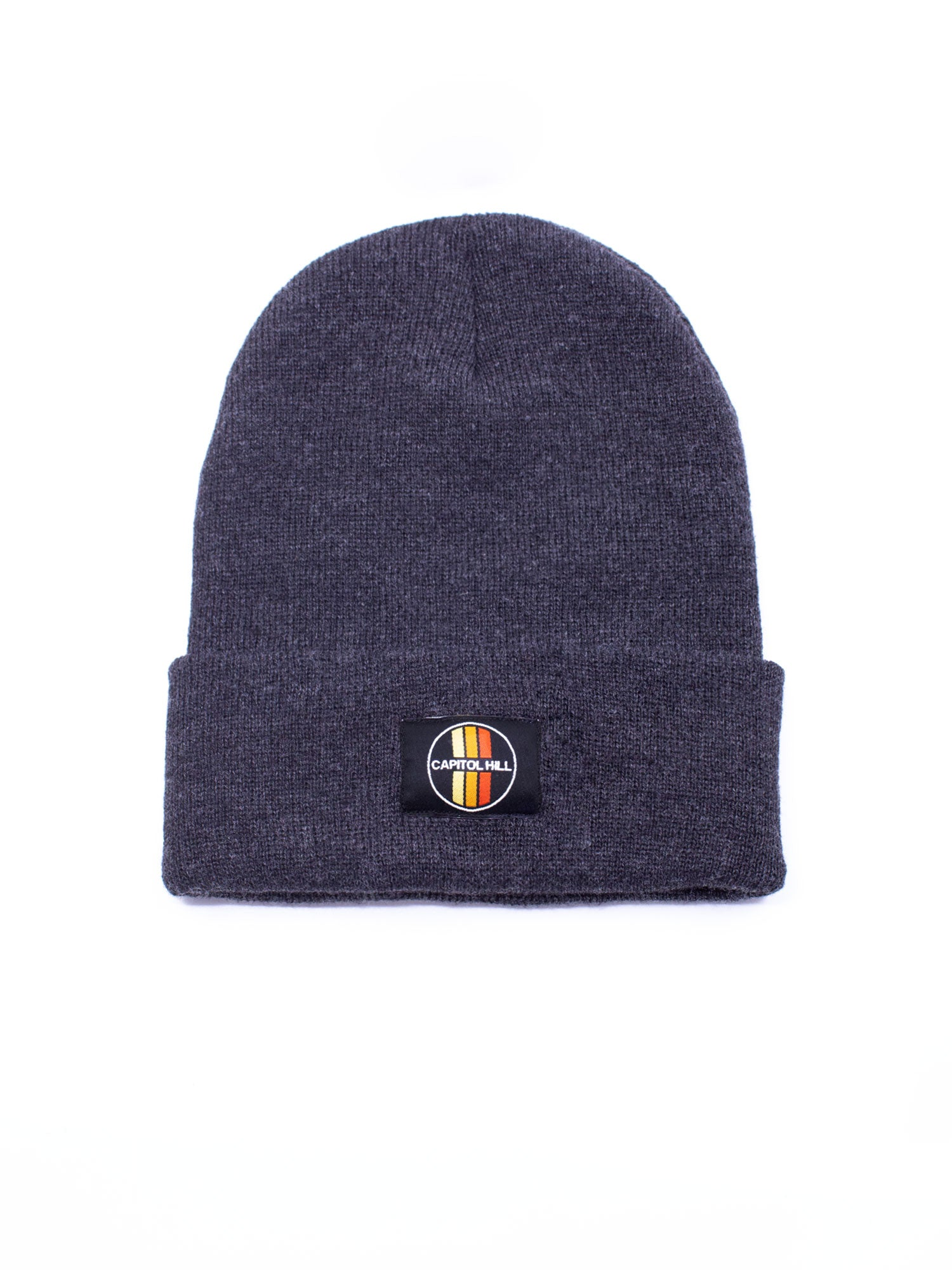 Acme Local Capitol Hill Vertical Stripes Charcoal Beanie