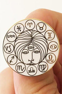 Strike Gently Co. Astrology Pin