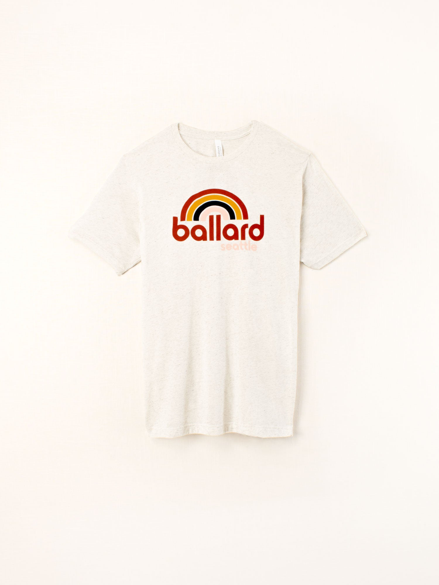 Standard Goods Ballard Rainbow Tee Oatmeal Heather