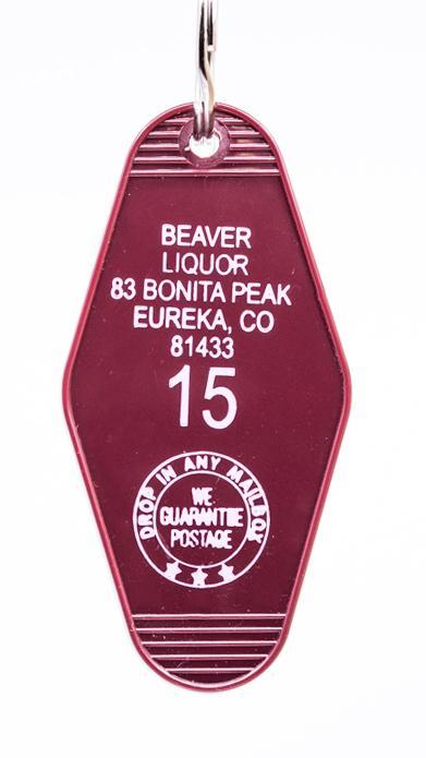 Three Sisters Motel Key Fob Beaver Liquor