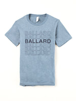 Standard Goods Ballard Thank You Stacked Tee Blue