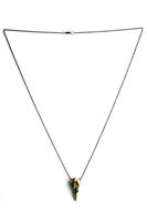 Larissa Loden Bird Skull Necklace Brass
