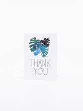 Load image into Gallery viewer, The Found Greeting Card Monstera Leaves Thank You