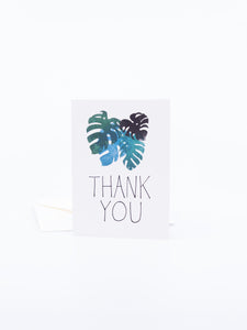 The Found Greeting Card Monstera Leaves Thank You
