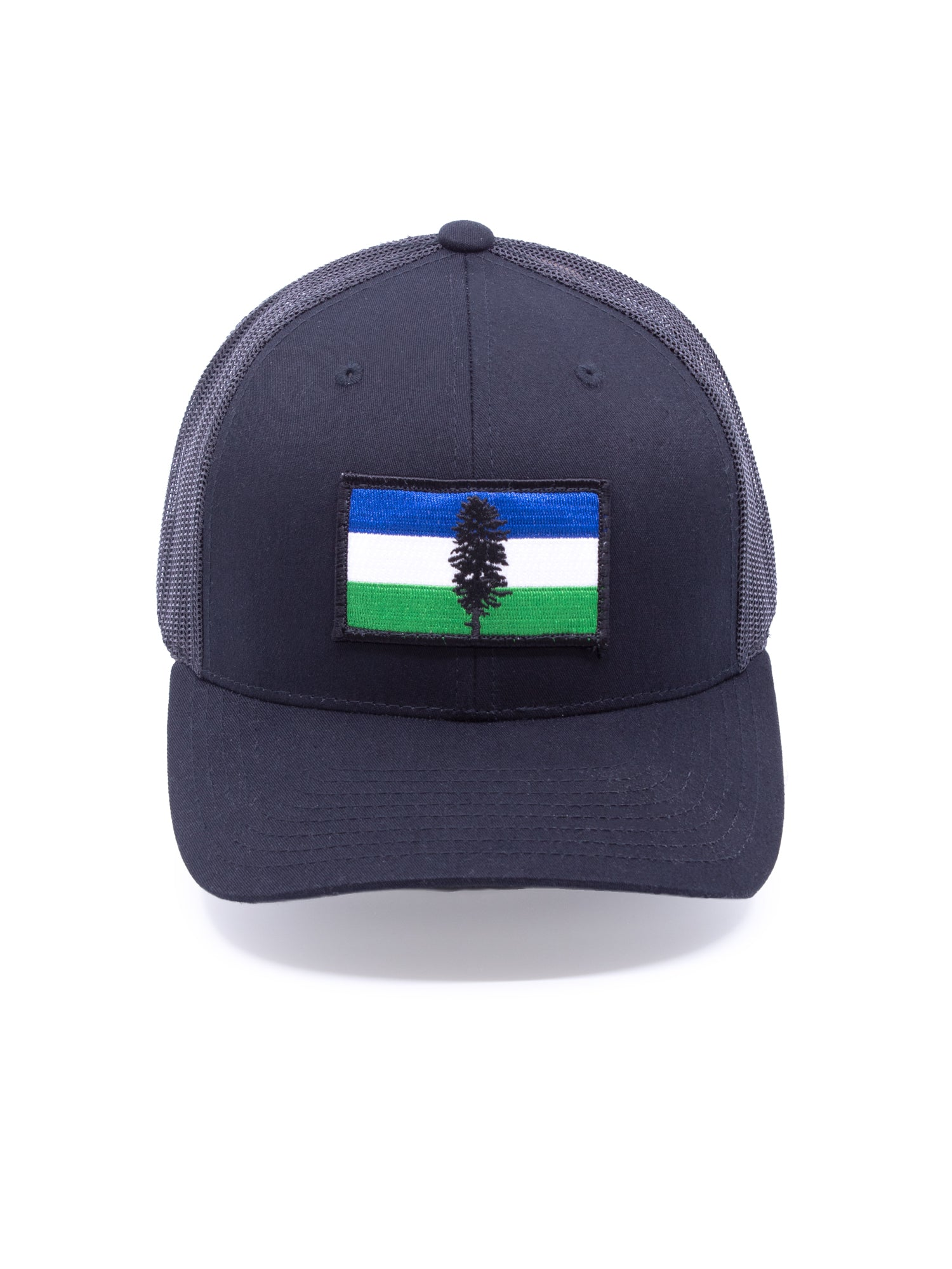 Northwest Vibes Cascadia Trucker Hat Black