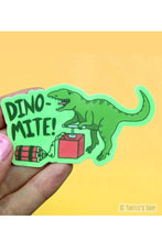 Load image into Gallery viewer, Turtle's Soup Dino-Mite Vinyl Sticker