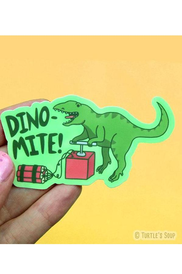 Turtle's Soup Dino-Mite Vinyl Sticker