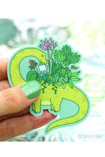 Load image into Gallery viewer, Turtle's Soup Dinosaur Planter Vinyl Sticker